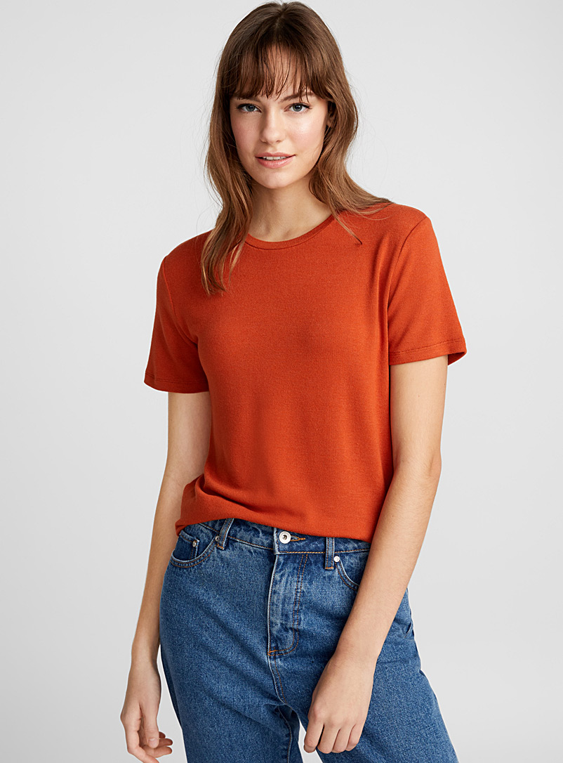 Soft knit tee - Short Sleeves & ¾ Sleeves - Ruby Red