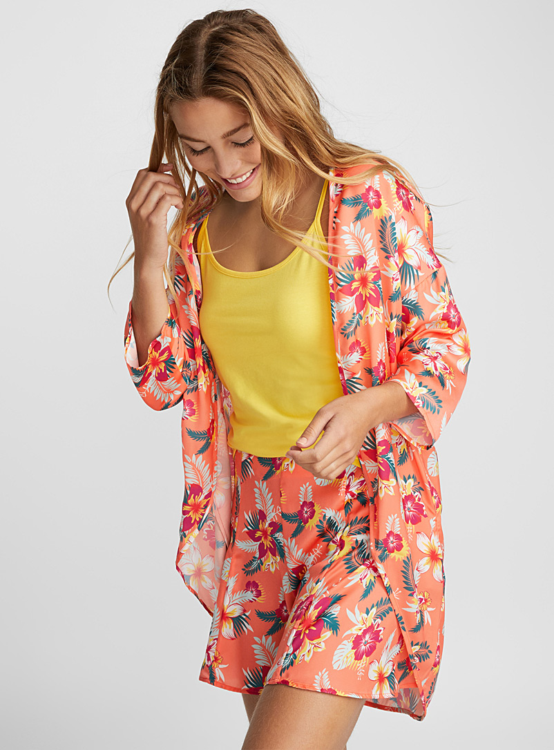 Floral kimono - Jackets - Patterned Red
