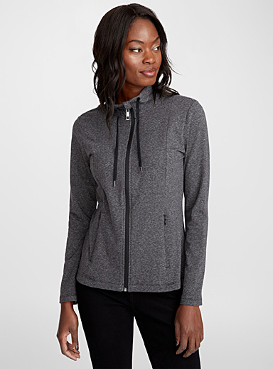 High neck zip jacket