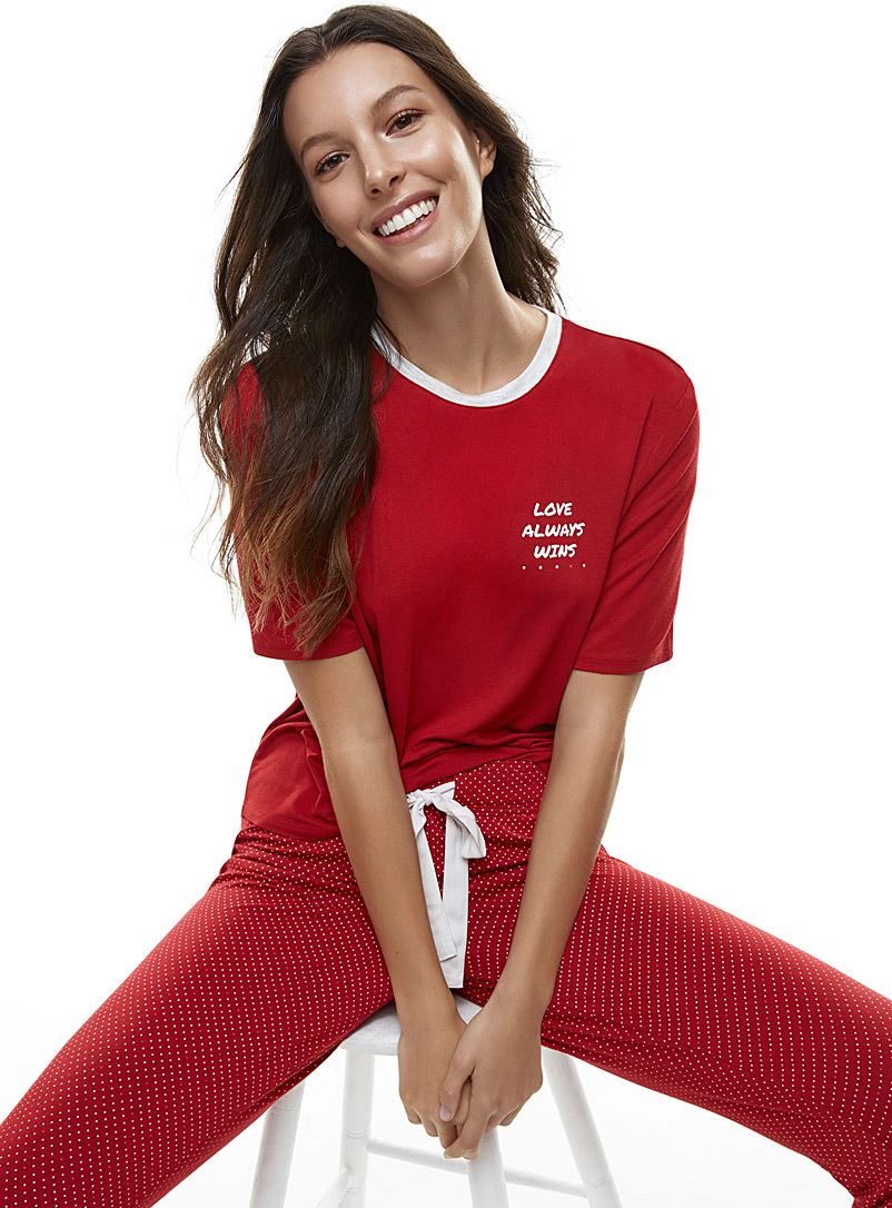 Soothing print tee - Sleepwear & Leisurewear - Red