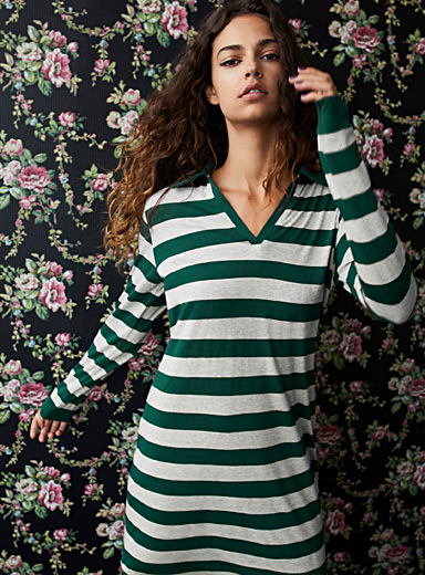 Rugby stripe nightgown