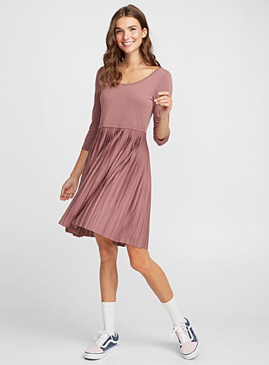 Pleated ballerina dress