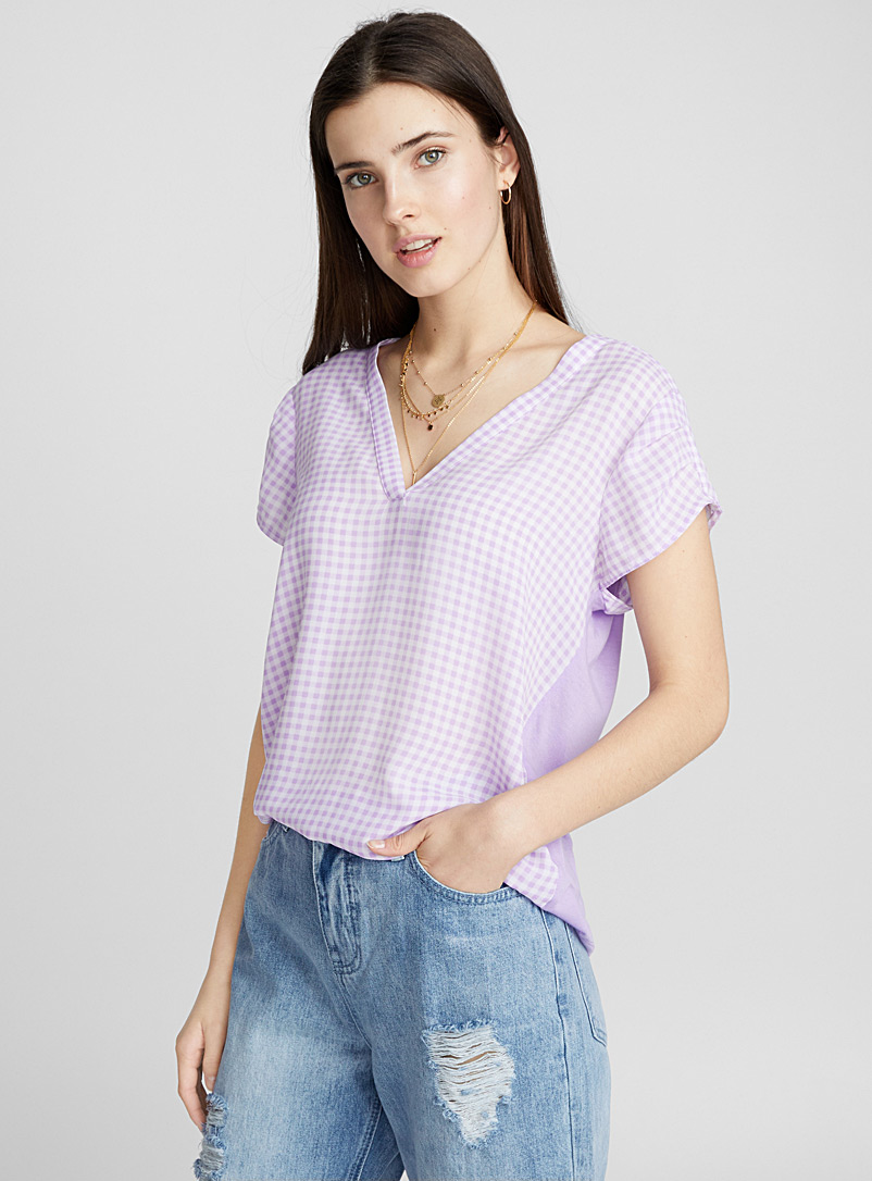 Jersey-back printed blouse - Blouses