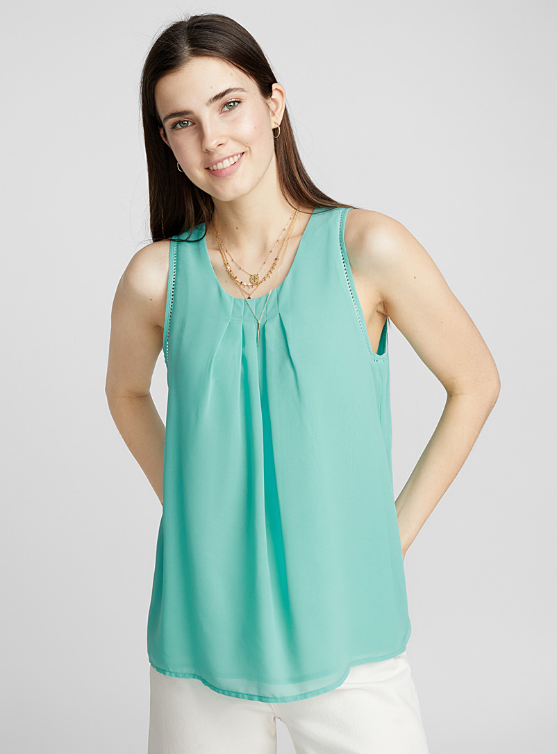 Accent pleat cami - Blouses - Assorted