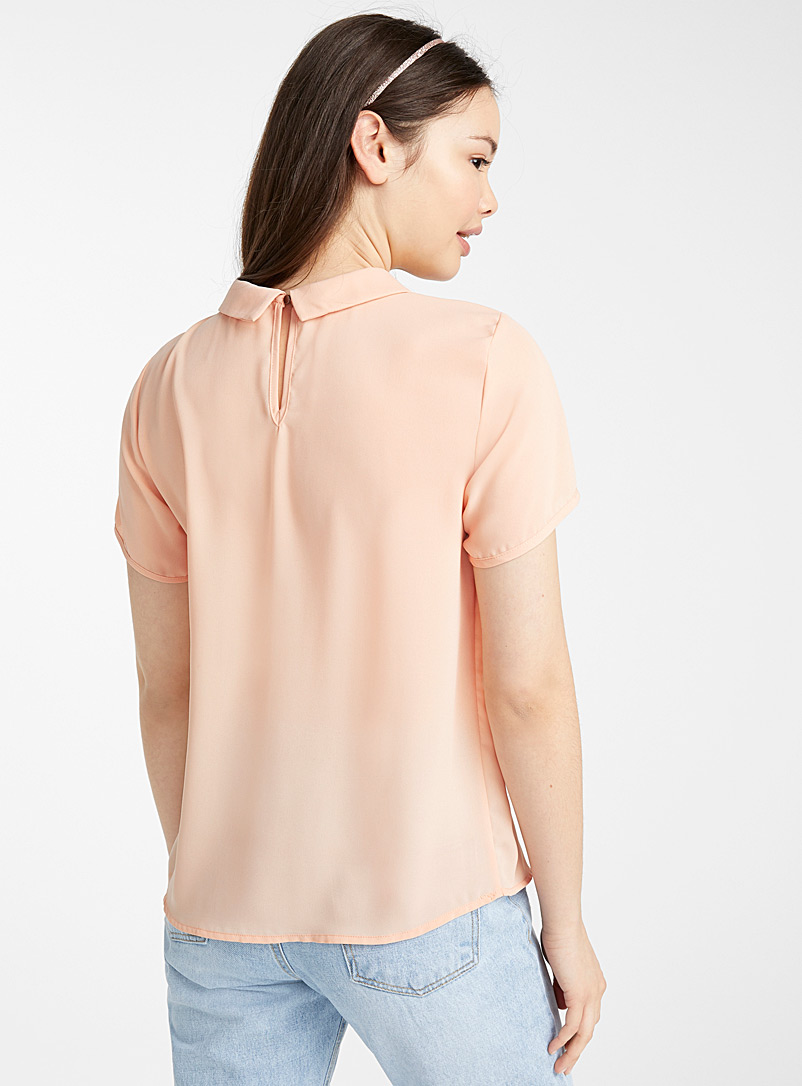 Twik Dusky Pink Recycled polyester blouse for women