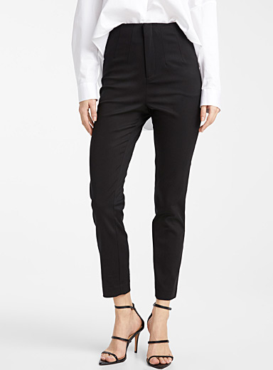 Stretch cotton slim pant