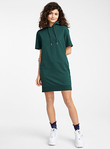 Organic cotton hoodie dress