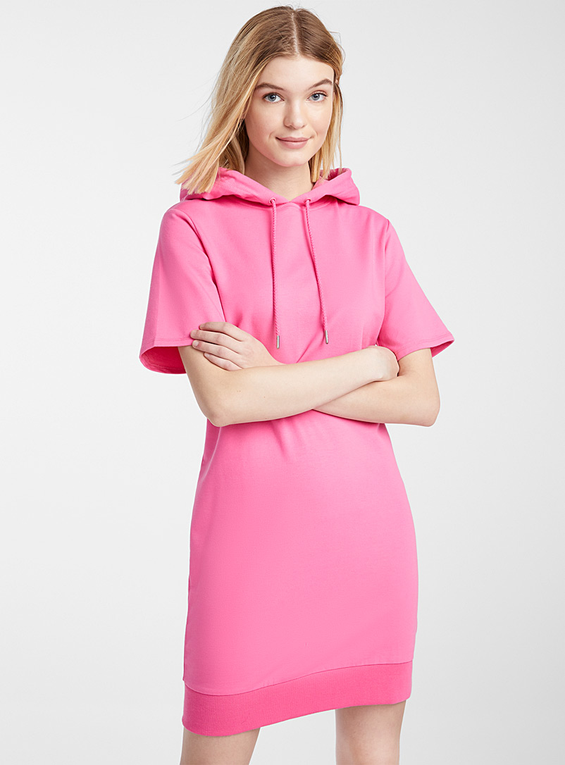 Twik Dusky Pink Organic cotton hoodie dress for women