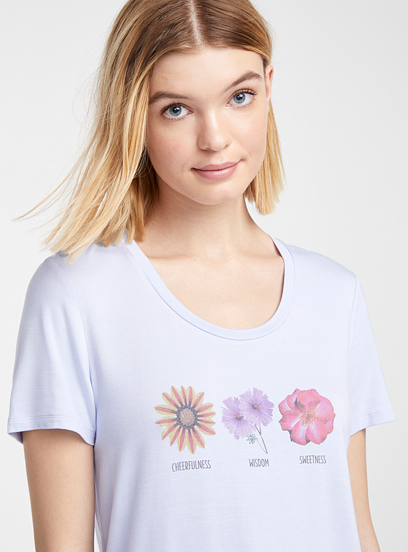 Twik Baby Blue Spring mood crew neck tee for women