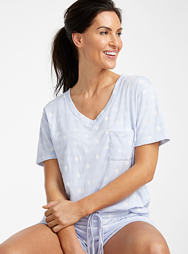 White dot lined tee