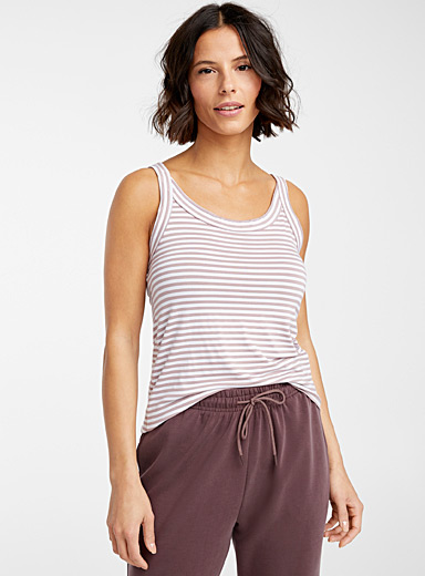 Miiyu Patterned Crimson Eco-friendly natural stripe cami for women