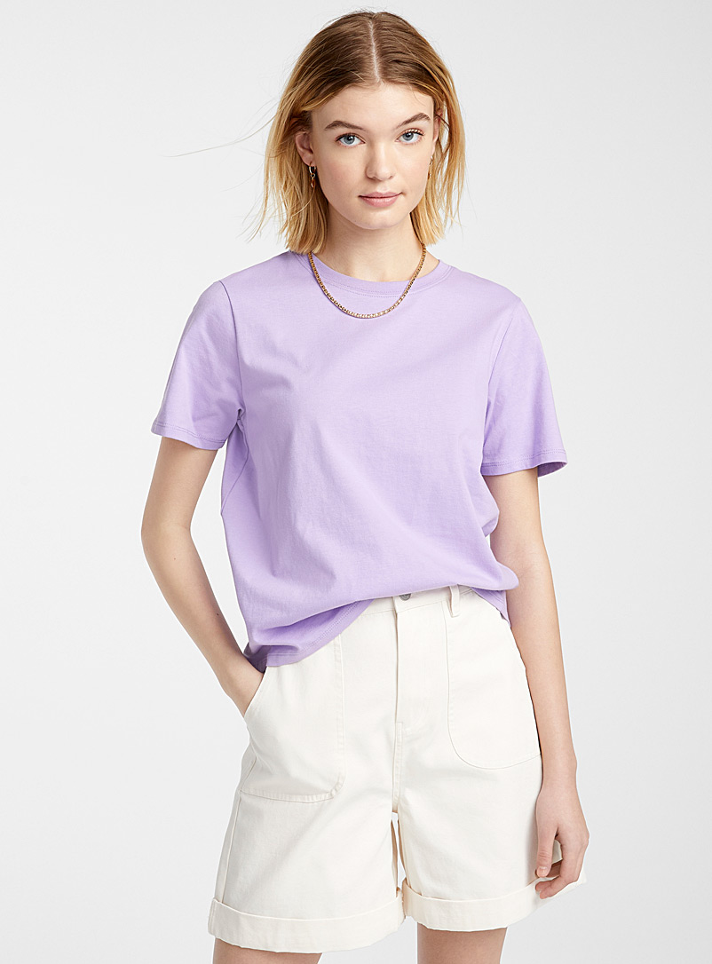 Twik Mauve Organic cotton basic T-shirt for women
