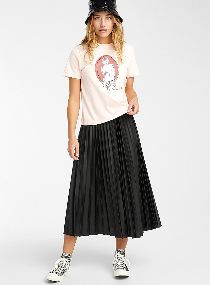 Twik Dusky Pink Colourful print tee for women