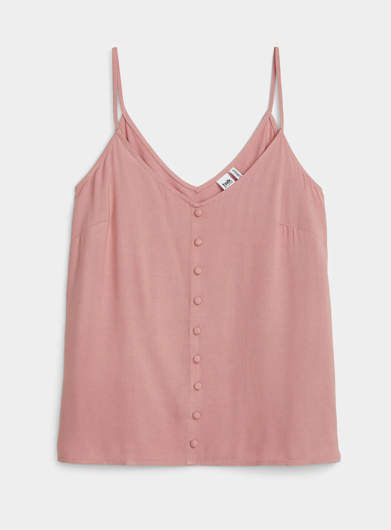 Twik Dusky Pink Eco-friendly viscose buttoned cami for women
