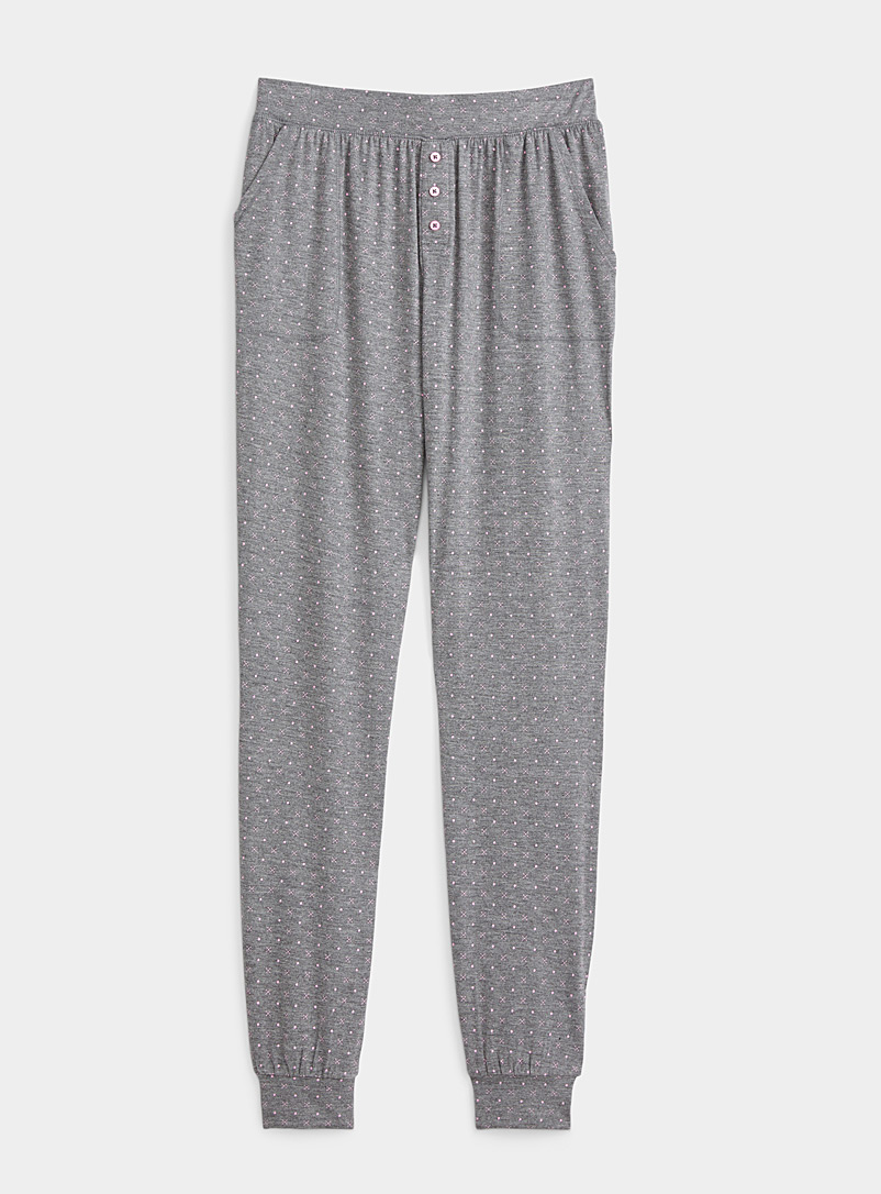 Miiyu x Twik Patterned Grey Summery vibe joggers for women