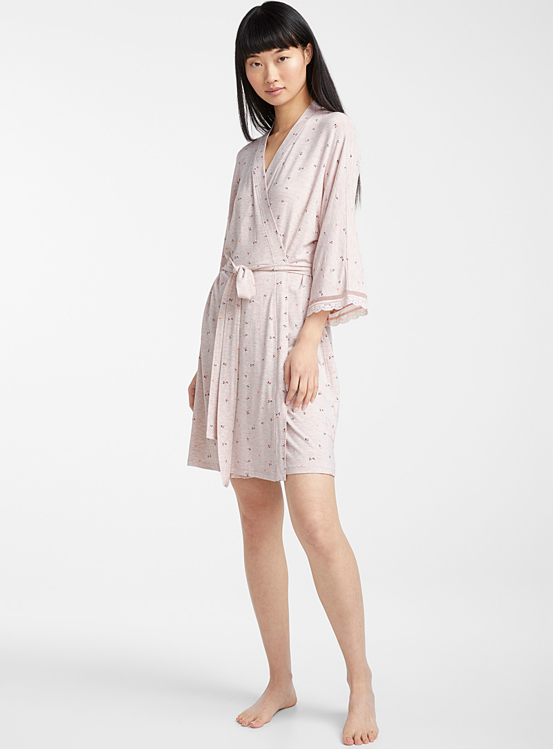 Miiyu x Twik Cream Beige Bucolic-style robe for women