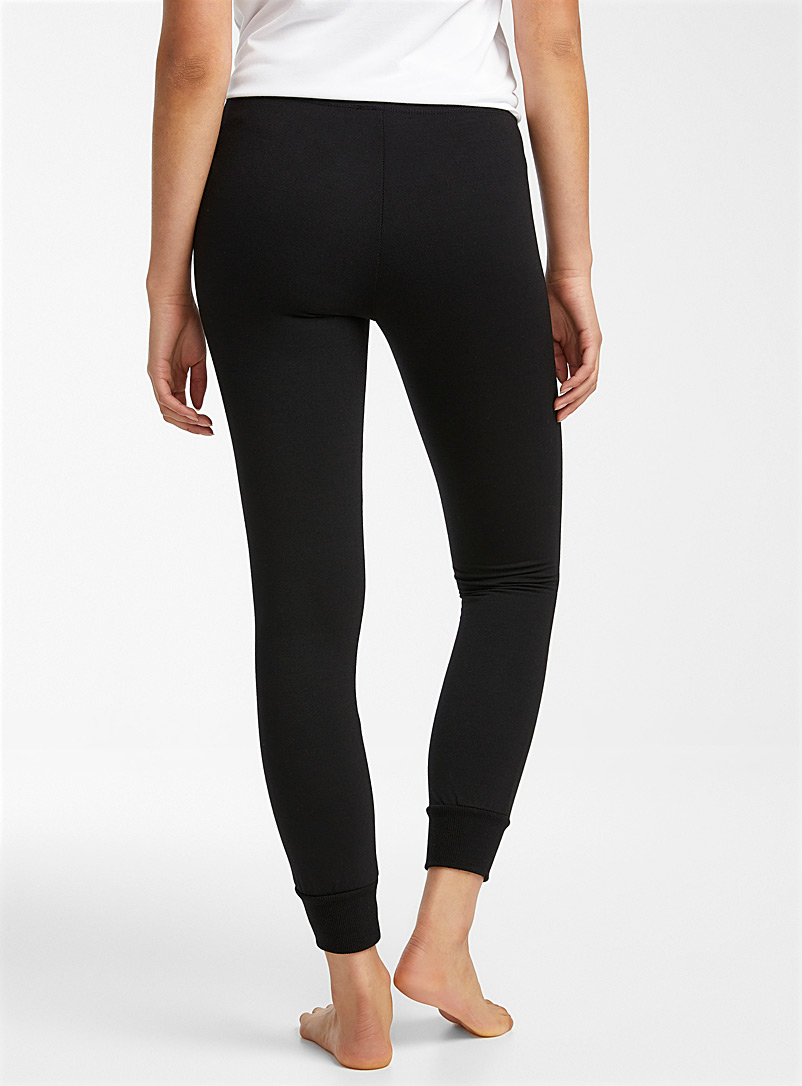Miiyu x Twik Black Solid sporty joggers for women