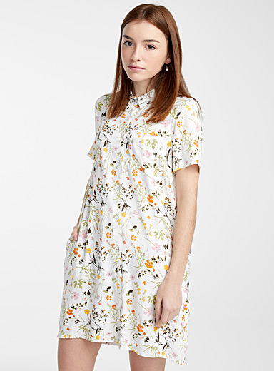 Eco-friendly viscose vibrant print dress