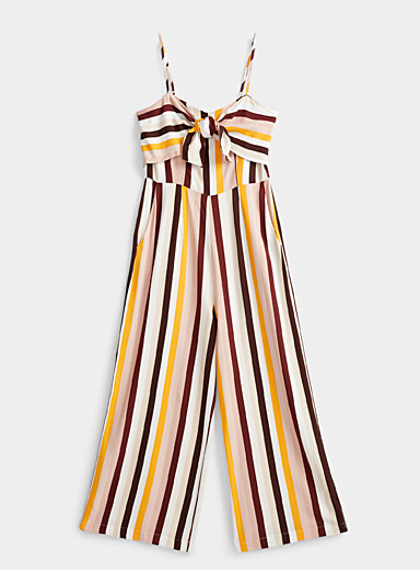 Twik Assorted Accent-bow gaucho jumpsuit for women