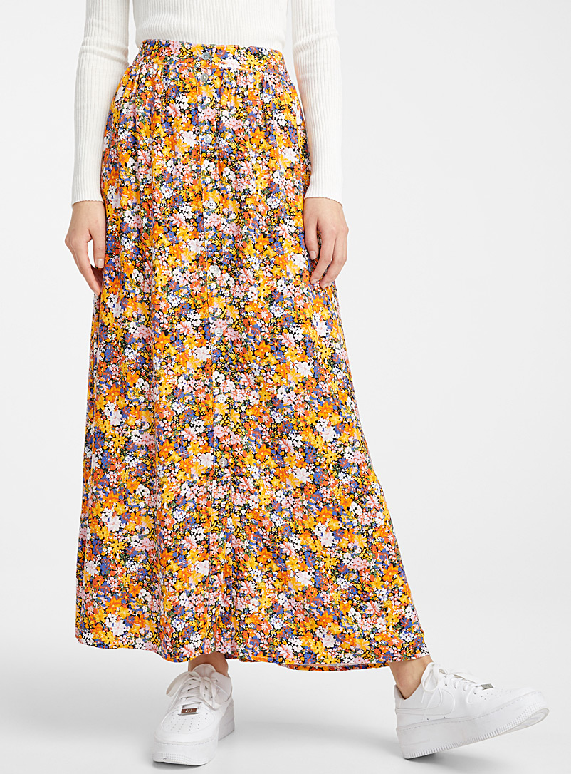 Twik Assorted Eco-friendly viscose buttoned skirt for women