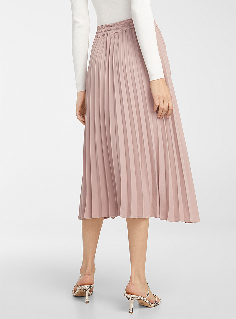 Icône Dusky Pink Recycled polyester toggle-waist skirt for women