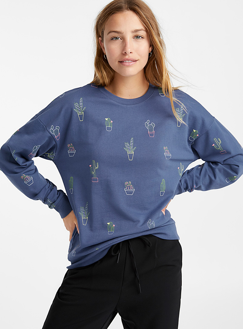 Organic cotton printed drawing sweatshirt