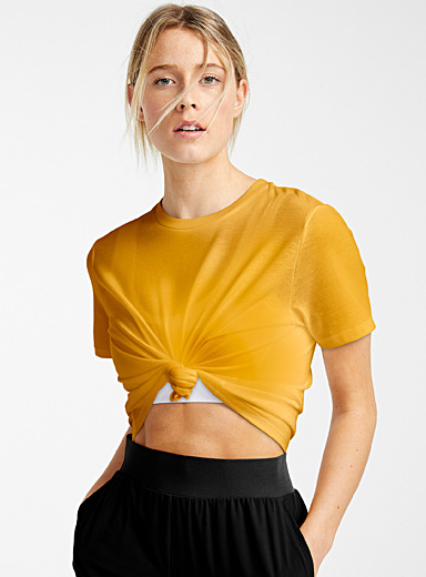 Eco-friendly blend cropped tee