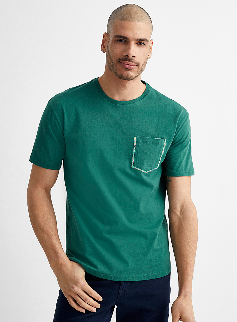 Le 31 Copper Liberty accent T-shirt for men