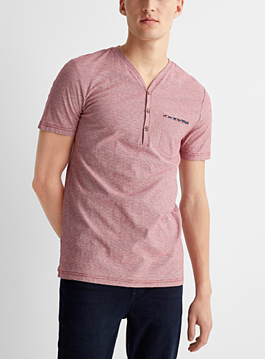 Reversed micro-stripe T-shirt