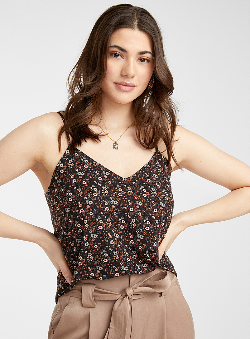 Recycled polyester thin-strap cami