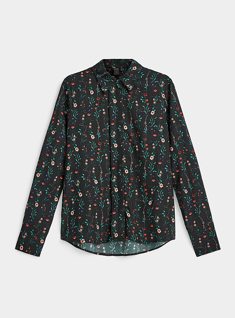 Icône Assorted Fluid printed recycled polyester shirt for women