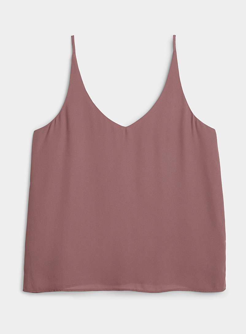 Twik Medium Crimson Airy V-neck cami for women