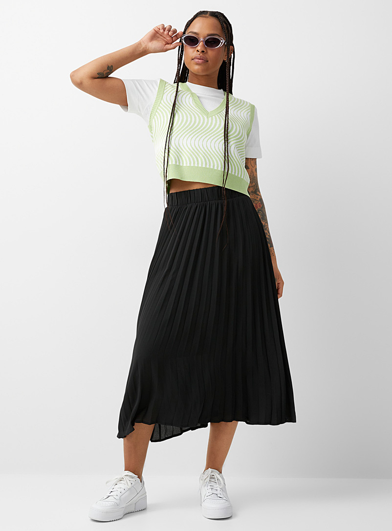 Twik Peach Airy pleated skirt for women