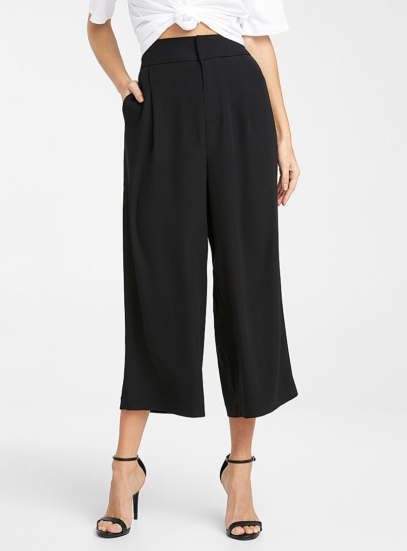 Ultra fluid recycled polyester culottes