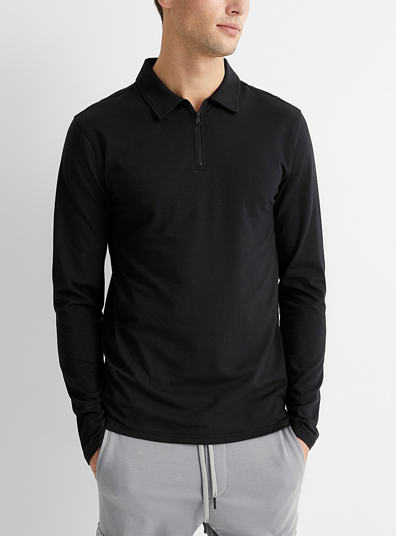 SeaCell* jersey zip polo