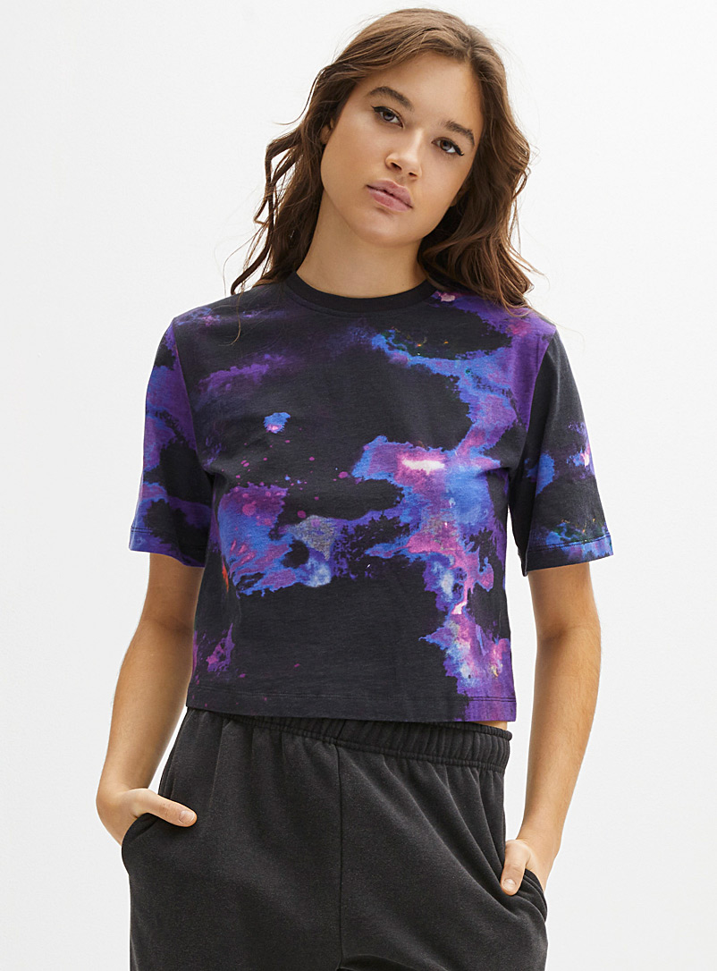 Twik Assorted Ocean floor loose T-shirt for women
