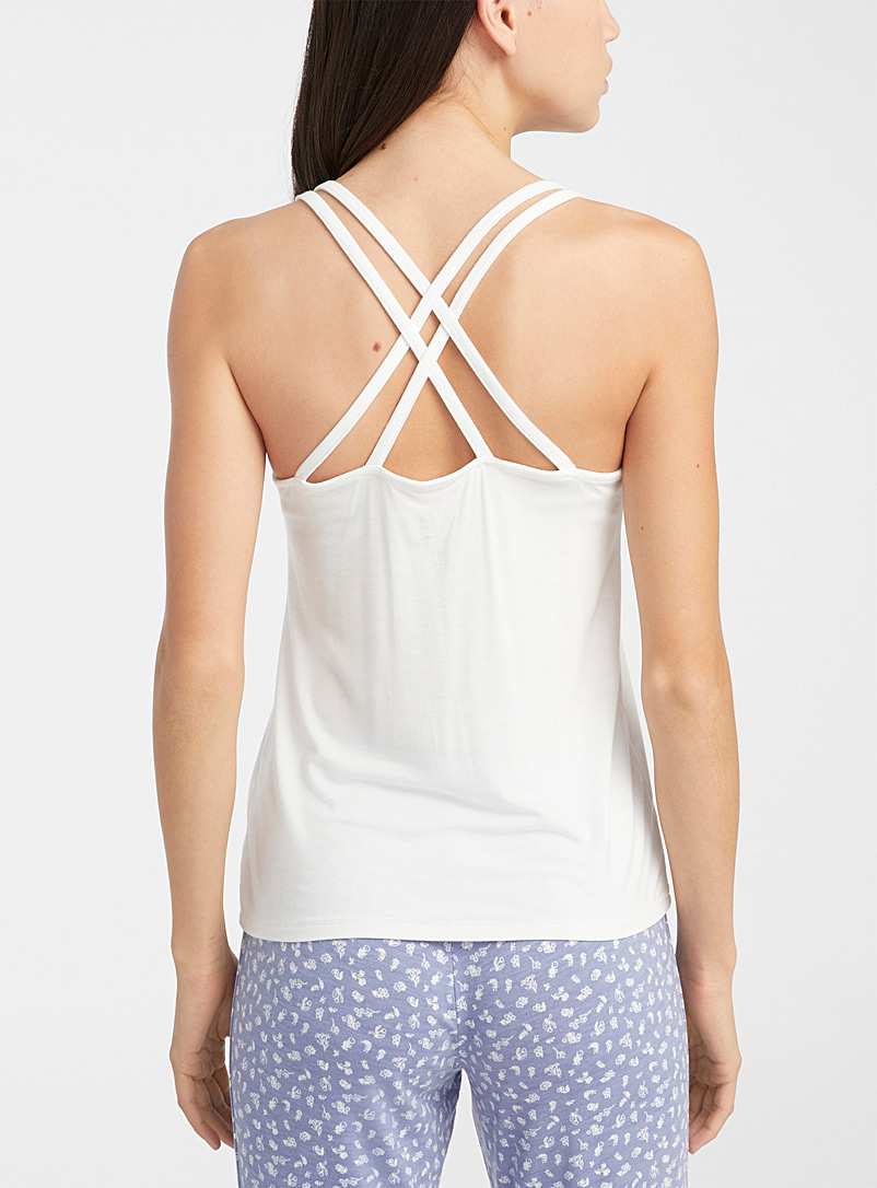 Miiyu x Twik Ruby Red Cross strap lounge cami for women
