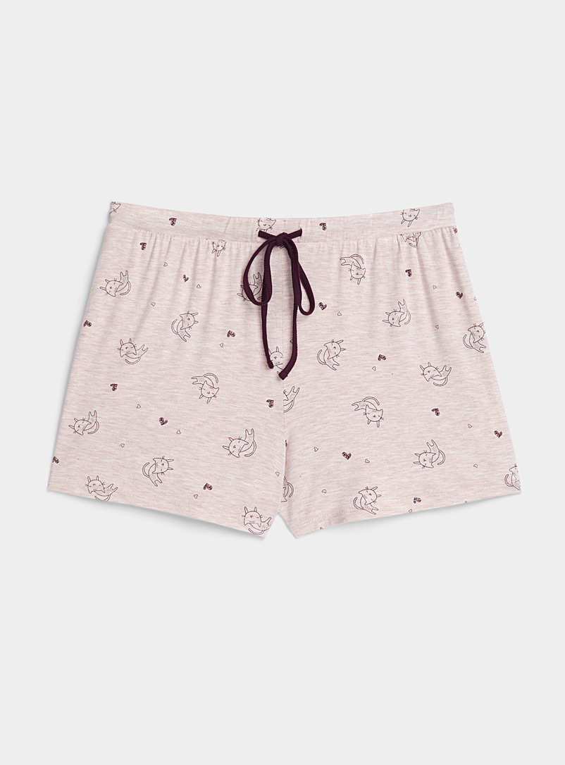 Miiyu x Twik Beige Charming pattern boxer for women