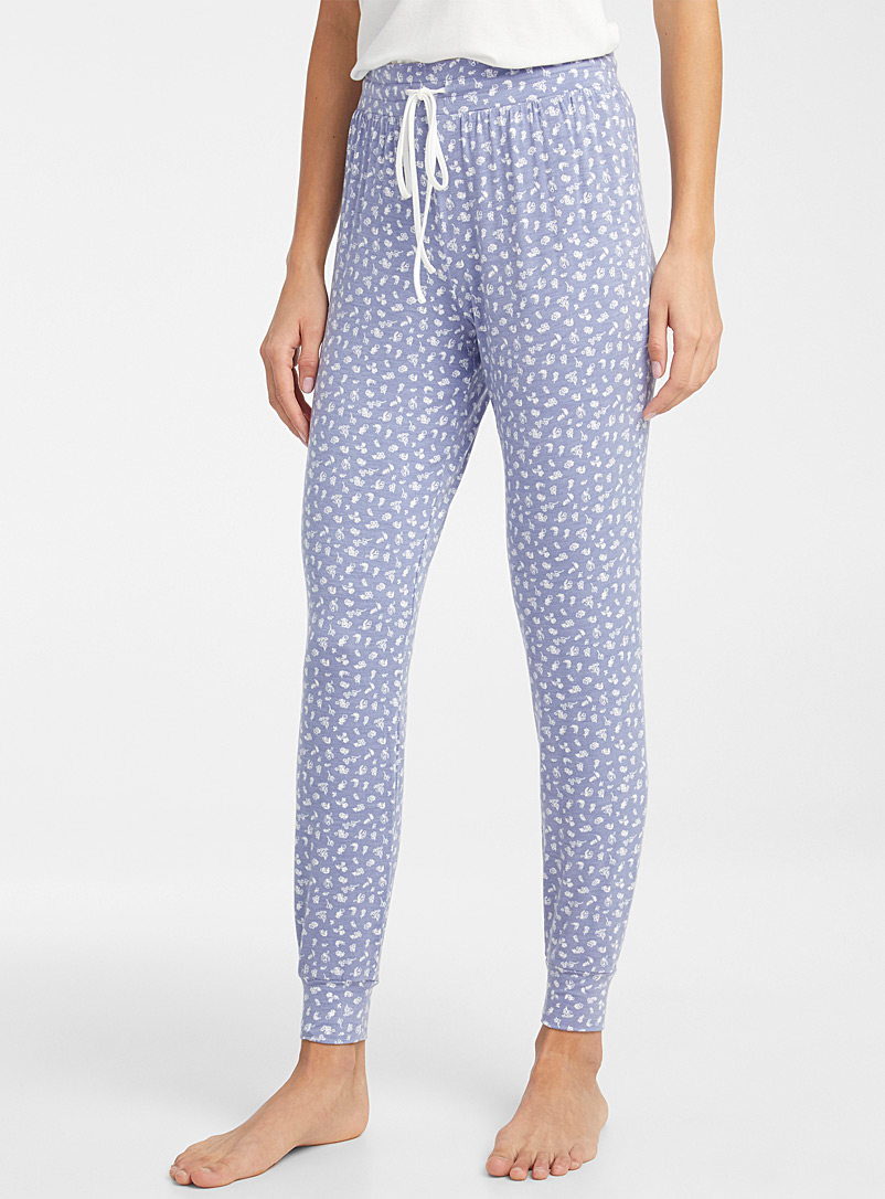 Miiyu x Twik Blue Charming pattern joggers for women