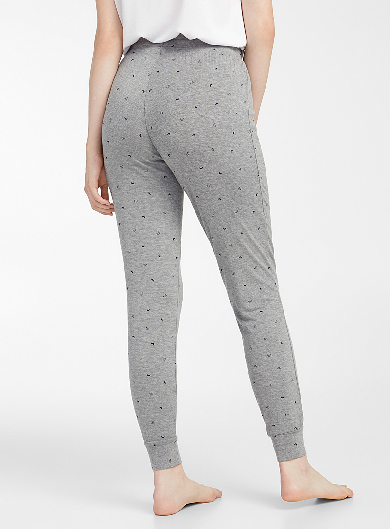 Miiyu x Twik Beige Charming pattern joggers for women