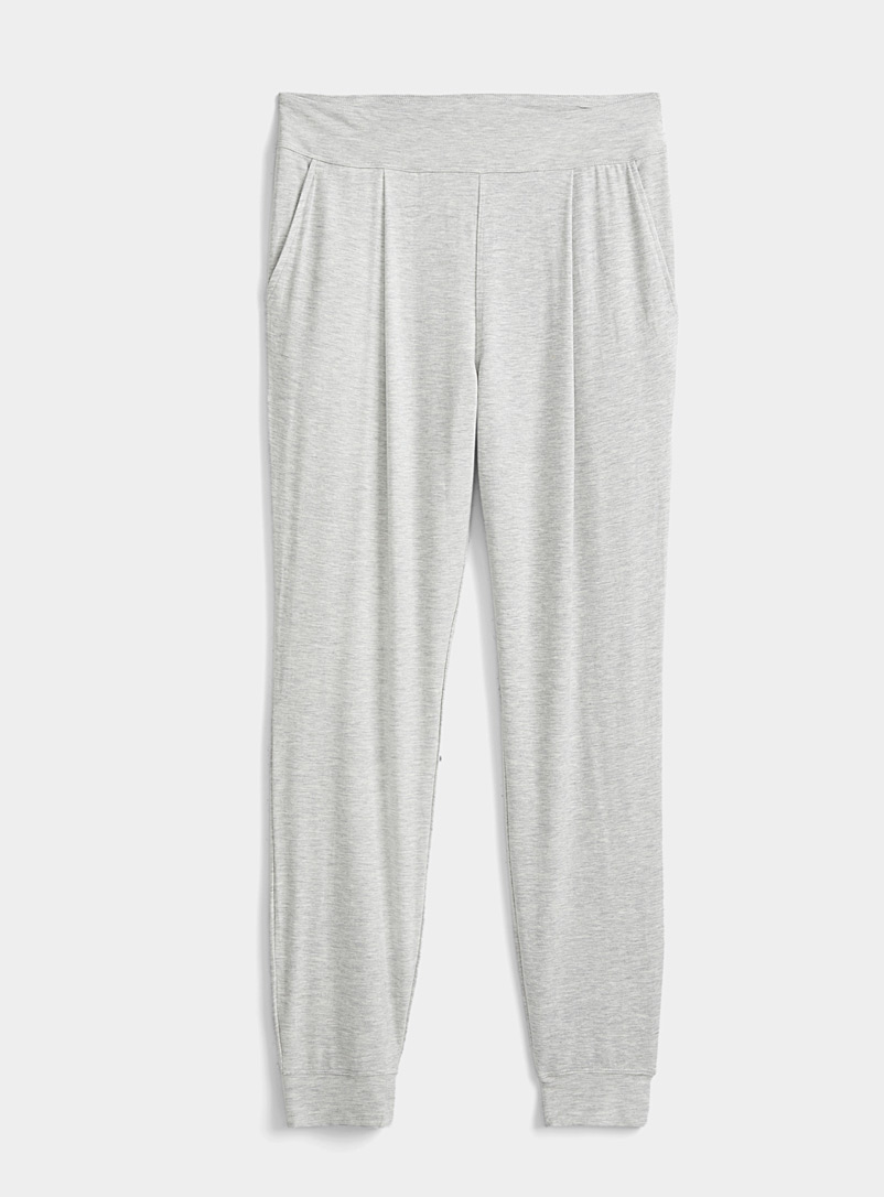 Miiyu Grey Box pleat modal joggers for women