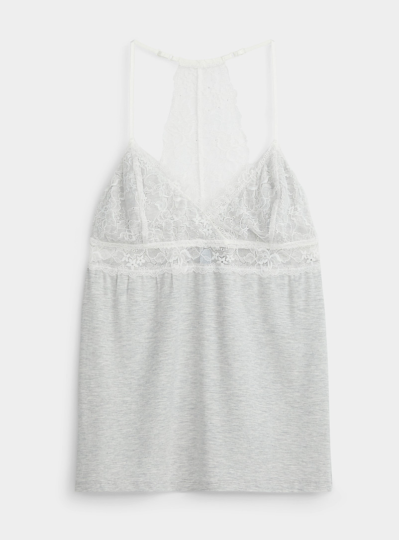 Accent-lace modal cami