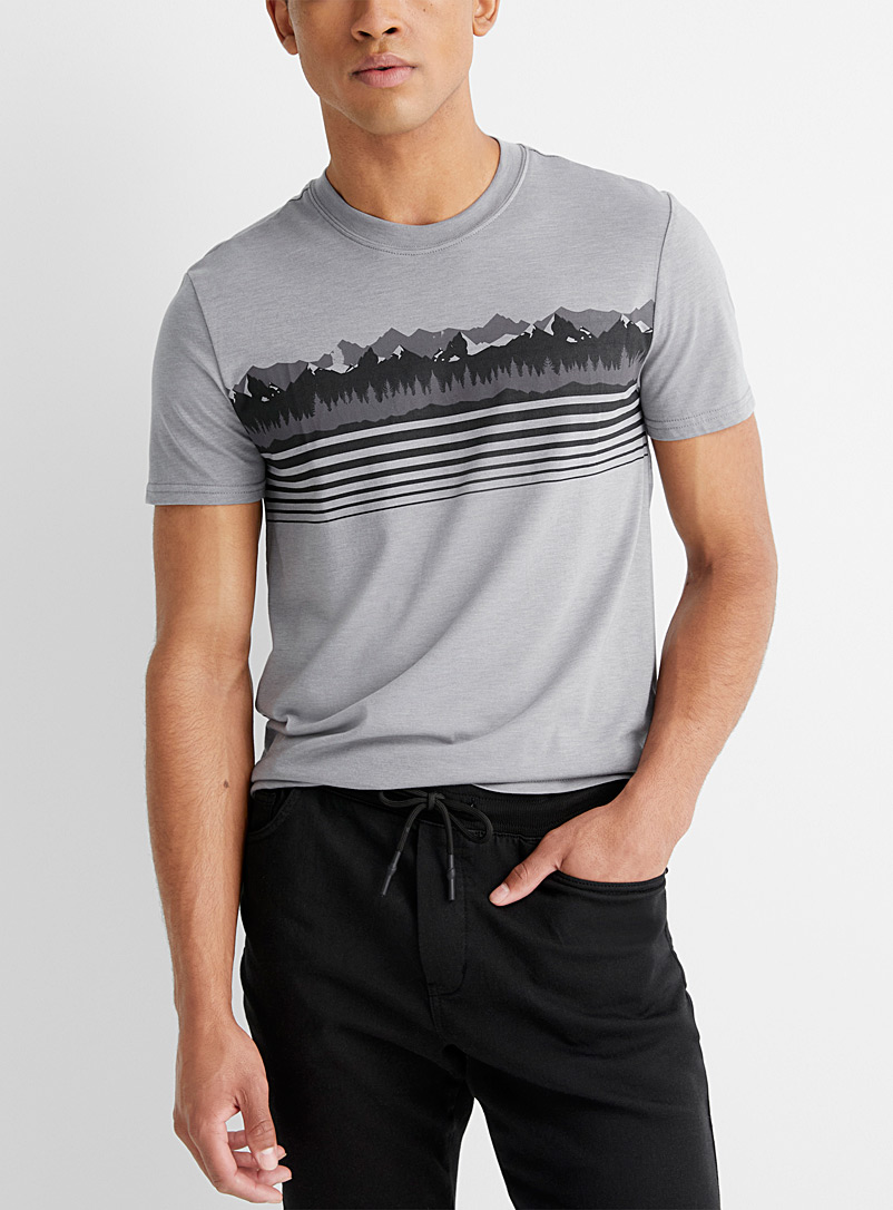 Le 31 Charcoal Expedition T-shirt for men
