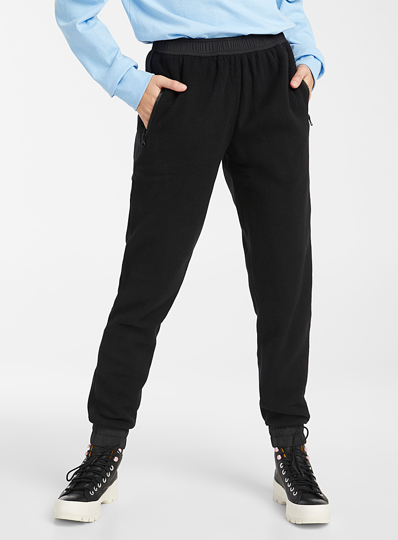 Recycled polyester polar fleece joggers