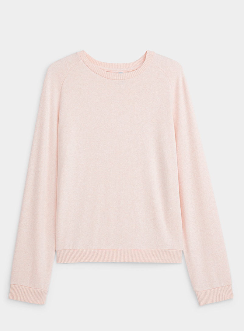 Miiyu Pink Ribbed-trim lounge sweater for women