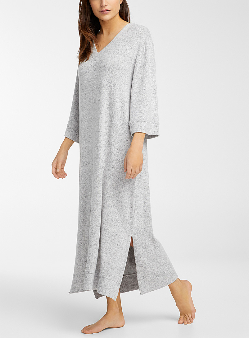Miiyu Grey Long eco-friendly viscose nightgown for women