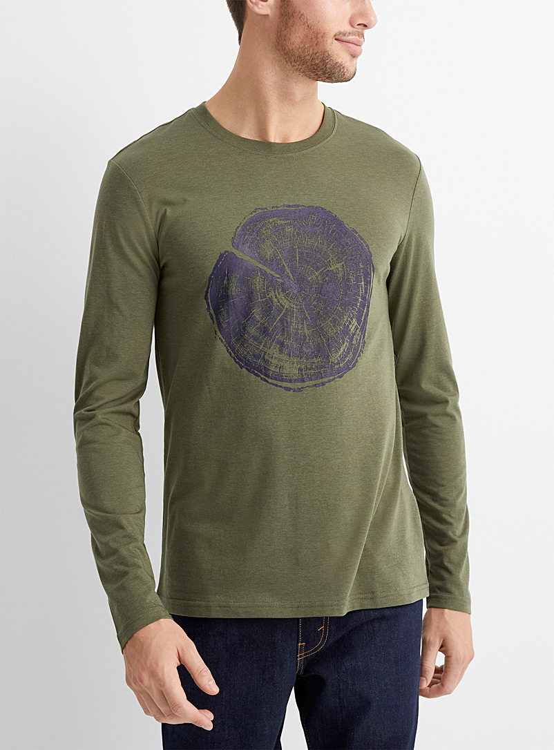 Le 31 Green Eco-friendly nature T-shirt for men