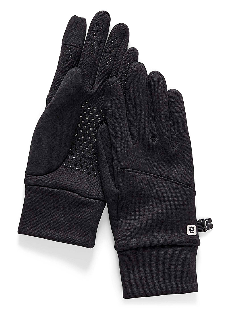 I.FIV5 Black Polartec tactile gloves for women