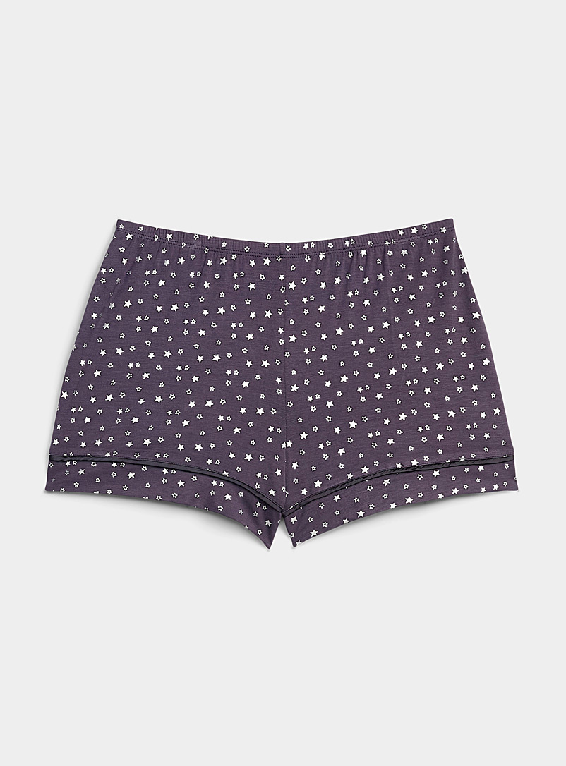 Miiyu x Twik Dark Grey Seasonal landscape boxer for women