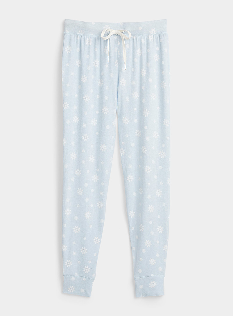 Miiyu x Twik Patterned Blue Wintry pattern eco-friendly viscose joggers for women
